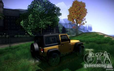 Jeep Wrangler Rubicon 2012 для GTA San Andreas вид сзади