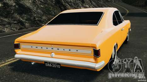 Chevrolet Opala Gran Luxo для GTA 4 вид сзади слева