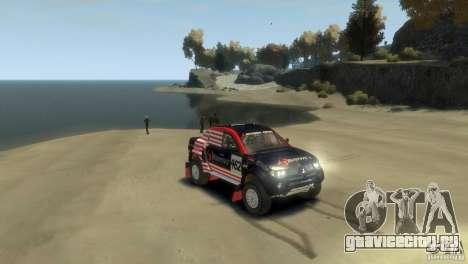 Mitsubishi L200 Rally для GTA 4 вид справа