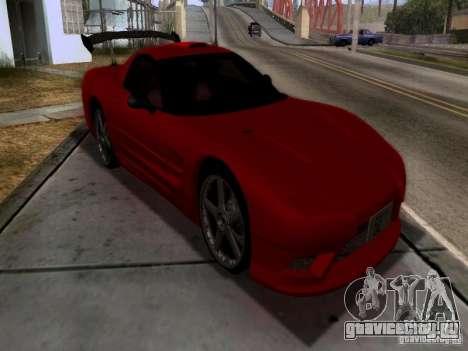 Chevrolet Corvette C5 для GTA San Andreas вид изнутри