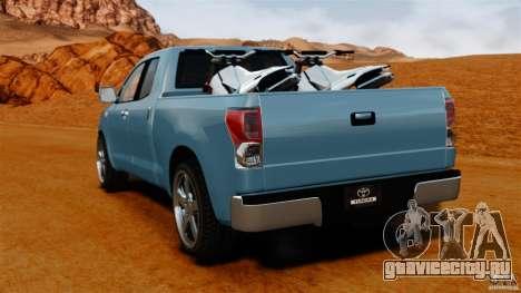 Toyota Tundra 2011 для GTA 4 вид сзади слева