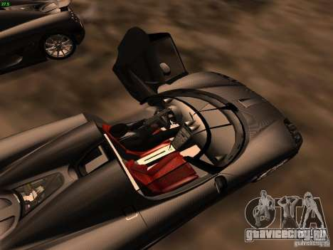 Koenigsegg CCXR Edition для GTA San Andreas вид сверху