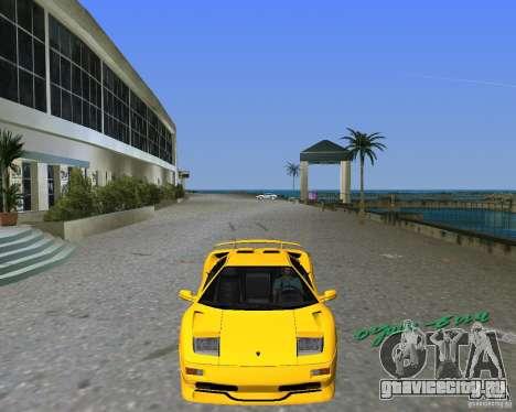 Lamborghini Diablo SV для GTA Vice City вид сзади слева