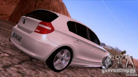 BMW 120i 2009 для GTA San Andreas вид сзади