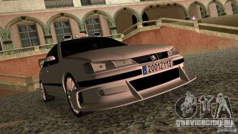 Peugeot 406 Taxi 2 для GTA Vice City вид слева