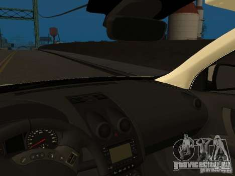 Nissan Qashqai Espaqna Police для GTA San Andreas вид изнутри