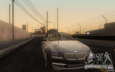 BMW 6 Series Gran Coupe 2013 для GTA San Andreas вид изнутри