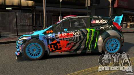 Ford Fiesta Rallycross Ken Block (Hoonigan) 2013 для GTA 4 вид слева