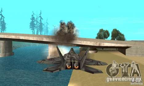 F-22 Starscream для GTA San Andreas салон