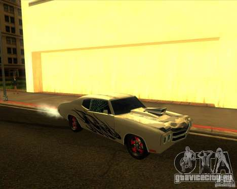 Chevy Chevelle SS Hell 1970 для GTA San Andreas вид сзади