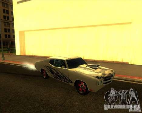 Chevy Chevelle SS Hell 1970 для GTA San Andreas вид сзади