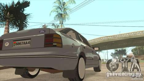 Ford Scorpio для GTA San Andreas вид сзади