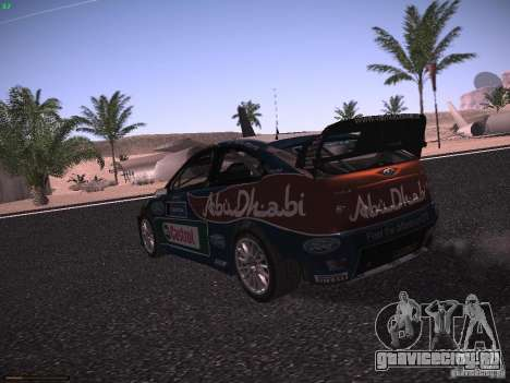 Ford Focus RS WRC 2010 для GTA San Andreas вид справа