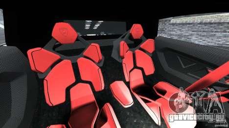 Lamborghini Sesto Elemento 2011 Police v1.0 RIV для GTA 4 вид изнутри