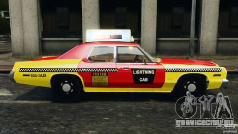 Dodge Monaco 1974 Taxi v1.0 для GTA 4 вид слева