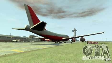 Fly Kingfisher Airplanes witout logo для GTA 4 вид сзади слева
