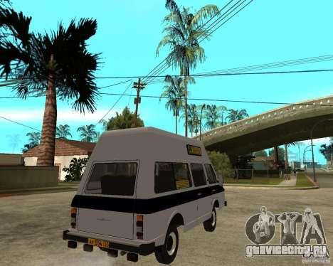 РАФ 22038 Маршрутное такси для GTA San Andreas вид сзади слева