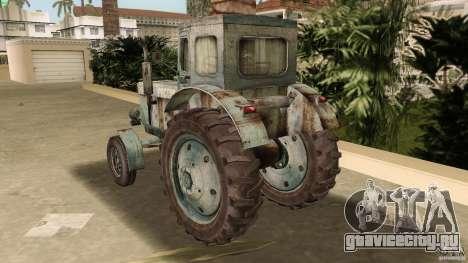 Трактор Т-40 для GTA Vice City вид сбоку