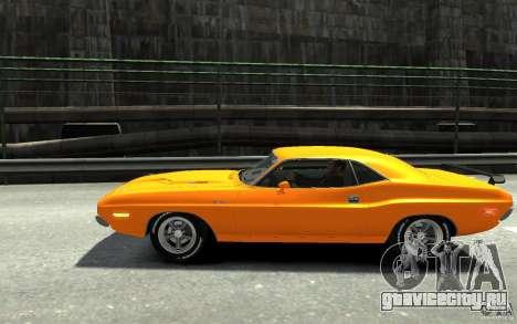 Dodge Challenger R/T Hemi 1970 для GTA 4 вид слева