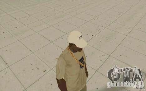 Кепка boss white для GTA San Andreas второй скриншот