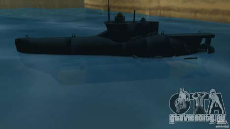 Seehund Midget Submarine skin 2 для GTA Vice City вид слева