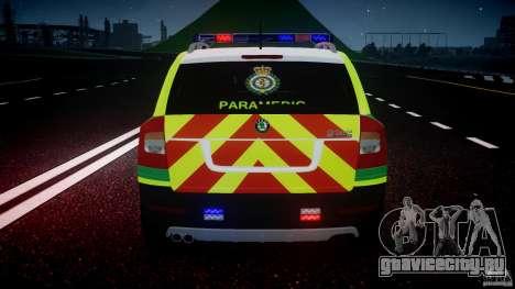 Skoda Octavia Scout Paramedic [ELS] для GTA 4 двигатель
