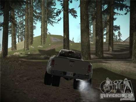 Dodge Ram 3500 4X4 для GTA San Andreas вид сзади слева
