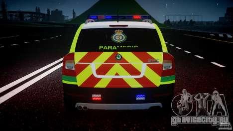 Skoda Octavia Scout Paramedic [ELS] для GTA 4 колёса
