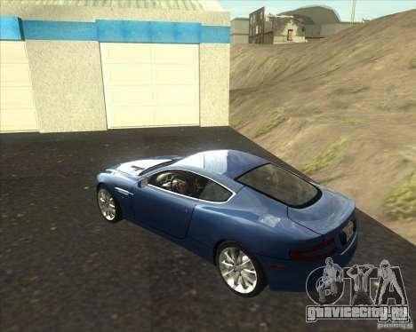 Aston Martin DB9 tunable для GTA San Andreas вид слева