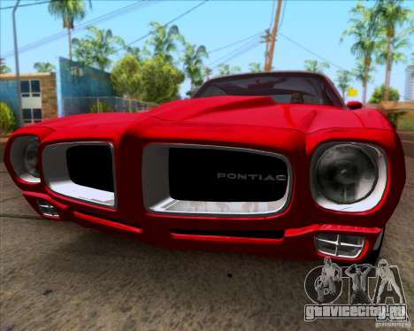 Pontiac Firebird 1970 для GTA San Andreas вид сзади слева