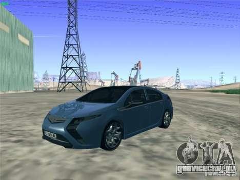 Opel Ampera 2012 для GTA San Andreas вид сзади слева