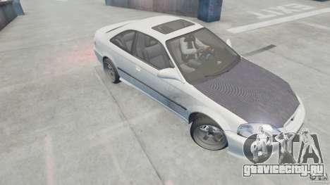 Honda Civic Si 1999 JDM [EPM] для GTA 4 вид сзади слева