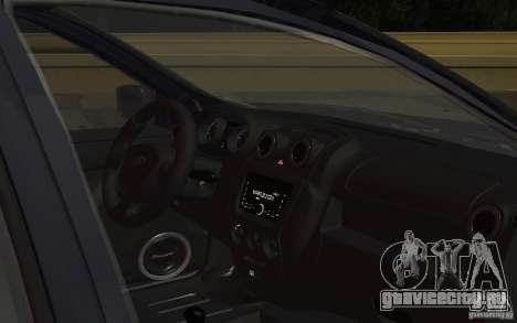 Lada Granta Stock для GTA San Andreas вид изнутри