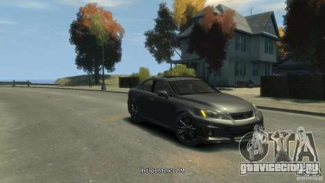 Lexus IS F для GTA 4 вид слева