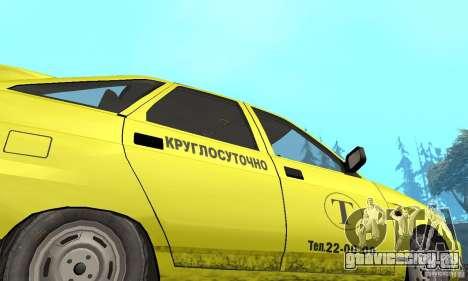 ВАЗ 21124 ТАКСИ для GTA San Andreas вид изнутри