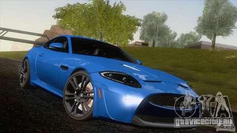 Jaguar XKR-S 2011 V1.0 для GTA San Andreas двигатель