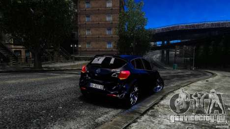 Opel Astra для GTA 4 вид изнутри