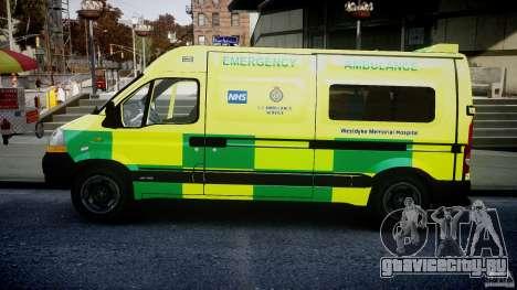 Renault Master 2007 Ambulance Scottish [ELS] для GTA 4 вид слева