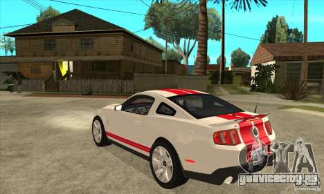 Ford Mustang Shelby GT500 2011 для GTA San Andreas вид справа