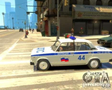 ВАЗ-2105 милиция для GTA 4 вид справа