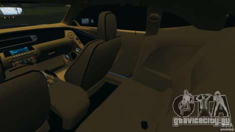 Chevrolet Camaro ZL1 2012 v1.0 Smoke Stripe для GTA 4 вид изнутри