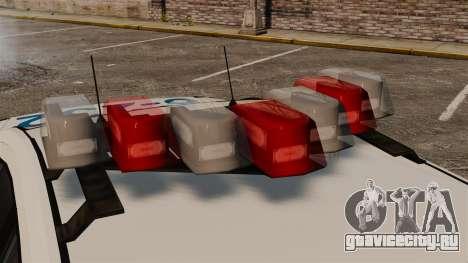Полицейский Buffalo ELS для GTA 4 вид сзади