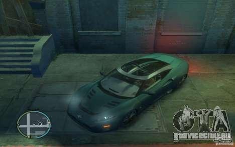 Spyker C8 Aileron для GTA 4 вид слева
