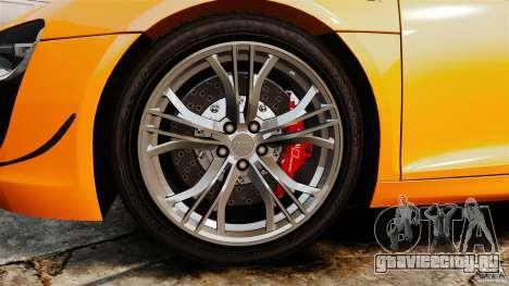 Audi R8 GT Coupe 2011 для GTA 4 вид изнутри