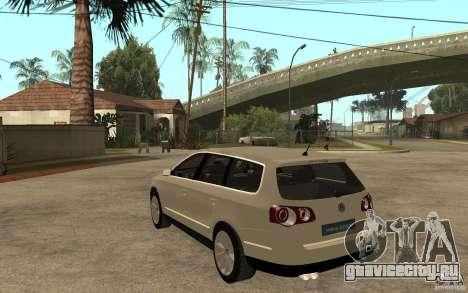 Volkswagen Passat Variant 2010 для GTA San Andreas вид сзади слева