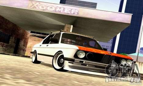 BMW E28 525е RatStyle Nr1 для GTA San Andreas вид изнутри