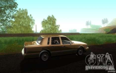 Lincoln Towncar 1991 для GTA San Andreas вид слева