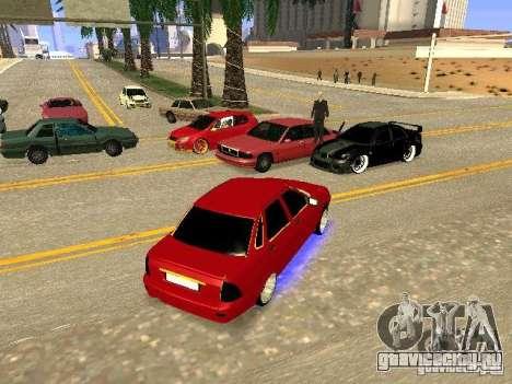 ВАЗ 2170 Приора Gold Edition для GTA San Andreas вид снизу