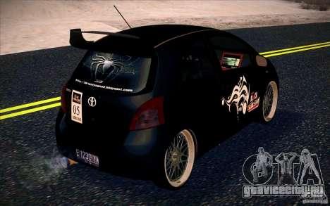 Toyota Yaris для GTA San Andreas вид сзади слева