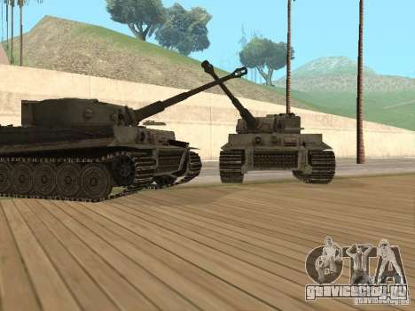 Pzkpfw VI Tiger для GTA San Andreas вид сзади слева